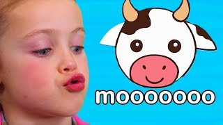 Gambar cover Teaches Animal Sounds | Moo Cow, Old MacDonald, and More!