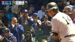 NYY@CHC: Castro receives ovation from fans at Wrigley
