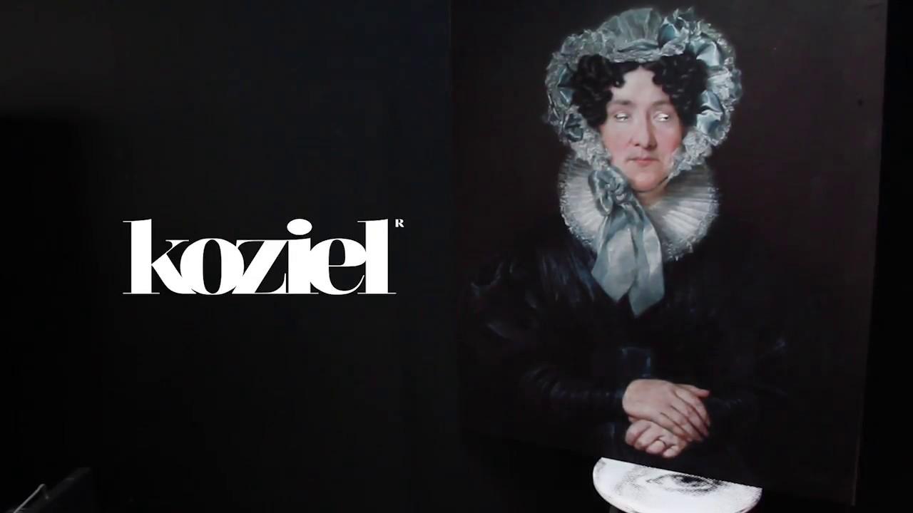 Koziel Trompe L Oeil animated velvet painting bourgeois xixth century - ladykoziel