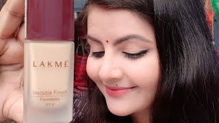Lakme invisible finish foundation review amp demo AFFORDABLE foundation for beginners for summers