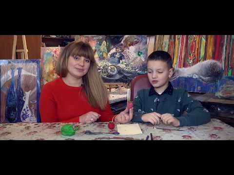 Телеканал UA: Житомир: Вчимося вдома: прикраса на ялинку_Ранок на каналі UA: Житомир 17.12.18