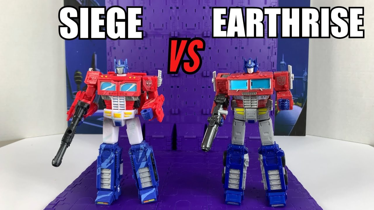 War for Cybertron Optimus Prime Comparison: Siege vs Earthrise By Enewtabie