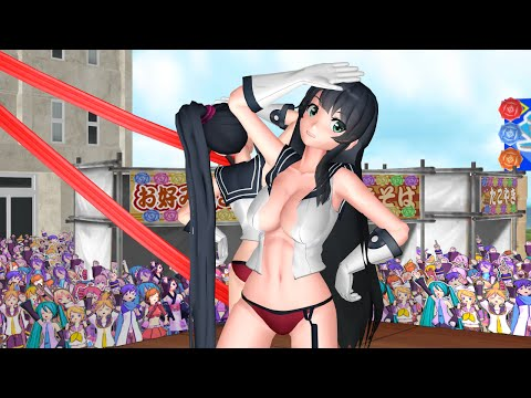 【MMD】Neko Switch - Agano & Yahagi 【R18】