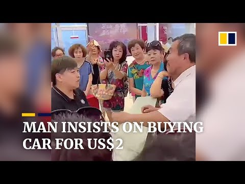 Elderly man in China insists on buying new car for US$2