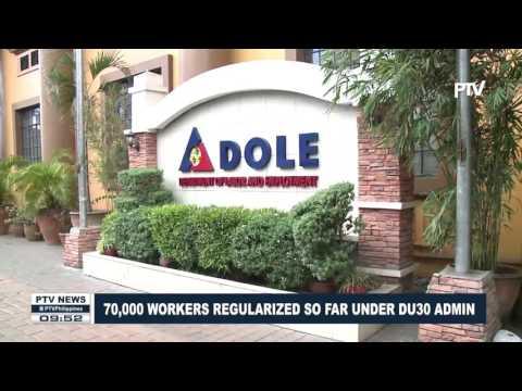70,000 workers regularized so far under Duterte administration