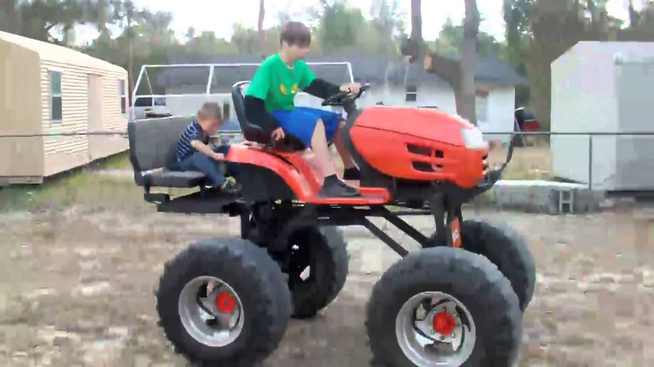 Redneck Lawnmower Youtube
