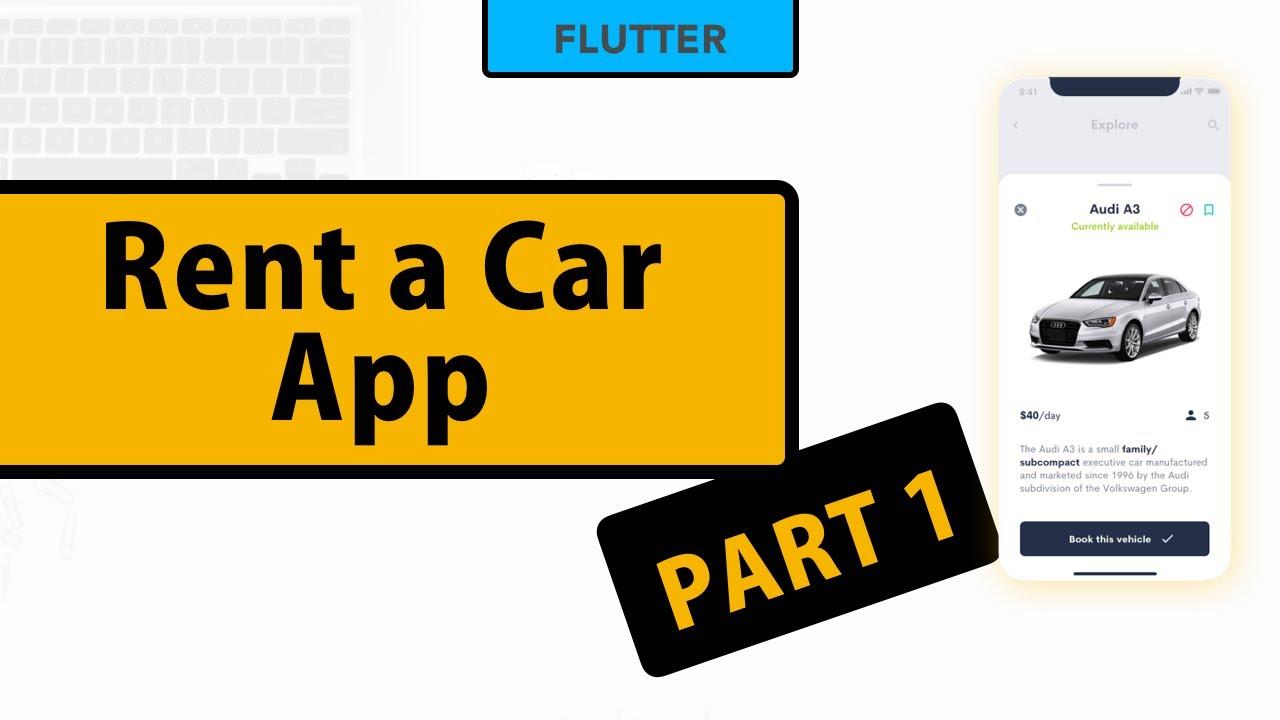Flutter - Rent a car app UI Design