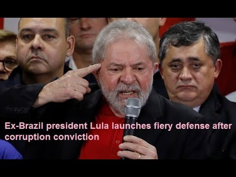 Ex Brazil president Lula launches fiery defense after corruption conviction