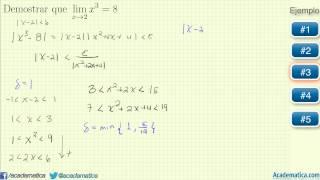 Demostración de limites por la definicion delta epsilon - Varios ejemplos