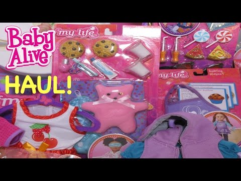BABY ALIVE Haul From Walmart My Life As Clothes & Accessories For Baby Alive Dolls!