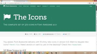 Using Font Awesome to create a Font Icon