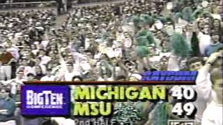 01/29/1992:  #15 Michigan Wolverines at #13 Michigan State Spartans
