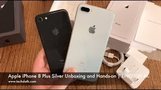 Apple iPhone 8 Plus Silver Unboxing and Hands on   ENGLISH 4K
