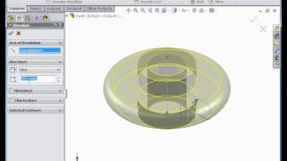 SolidWorks Tutorial -  Basic exercise demonstrating revolve and revolved cut features
