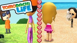 Tomodachi Life 3DS Love Couples, Date Park, Quiz Unlock Gameplay Walkthrough PART 7 Nintendo Mii
