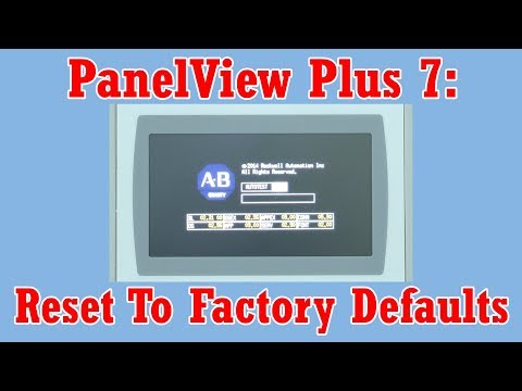 How to reset your PanelView Plus 7 to Factory Defaults - YouTube
