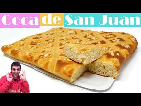 Coca de San Juan. Fácil y rico Brioche con crema Pastelera