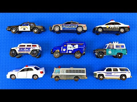 Police Cars for Kids #3 | Learn Police Vehicle Names & Colors | Fun & Educational Organic Learning