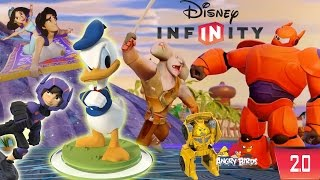 Disney Infinity 2.0 - Baymax, Hiro, Donald Duck, Aladdin + more Update (w/ Angry Birds Transformers)
