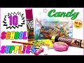 10 DIY School Supplies! Easy - Weird DIY Crafts for Back To School! Candy DIYs - Mini Pens & more!