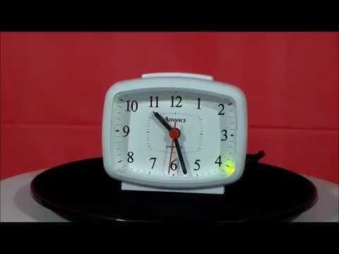 advance 2049 electric analog alarm clock white youtube. Black Bedroom Furniture Sets. Home Design Ideas