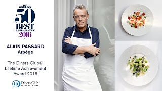 Alain Passard, Arpège, The Diners Club Lifetime Achievement Award 2016