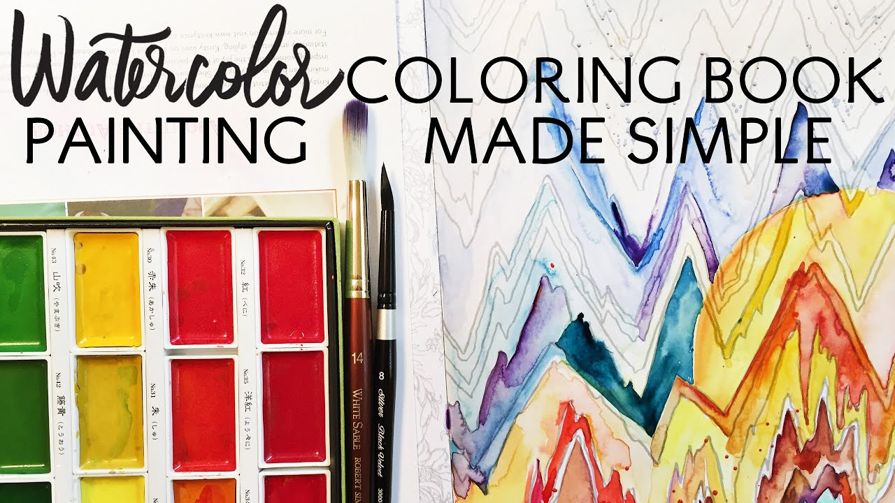 Watercolor Coloring Book Painting Made Simple