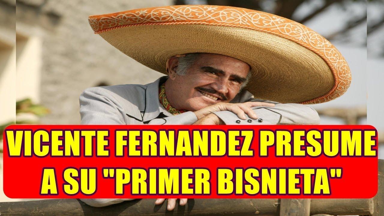 VICENTE FERNANDEZ presume 0RGULL0S0 a su PRIMER BISNIETA - YouTube