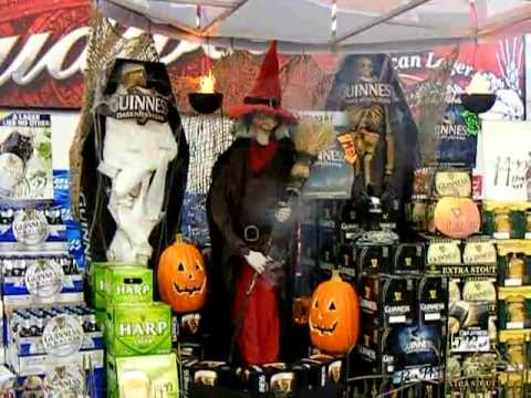 colonial puts up a guinness halloween display yankee spirits in attleboro
