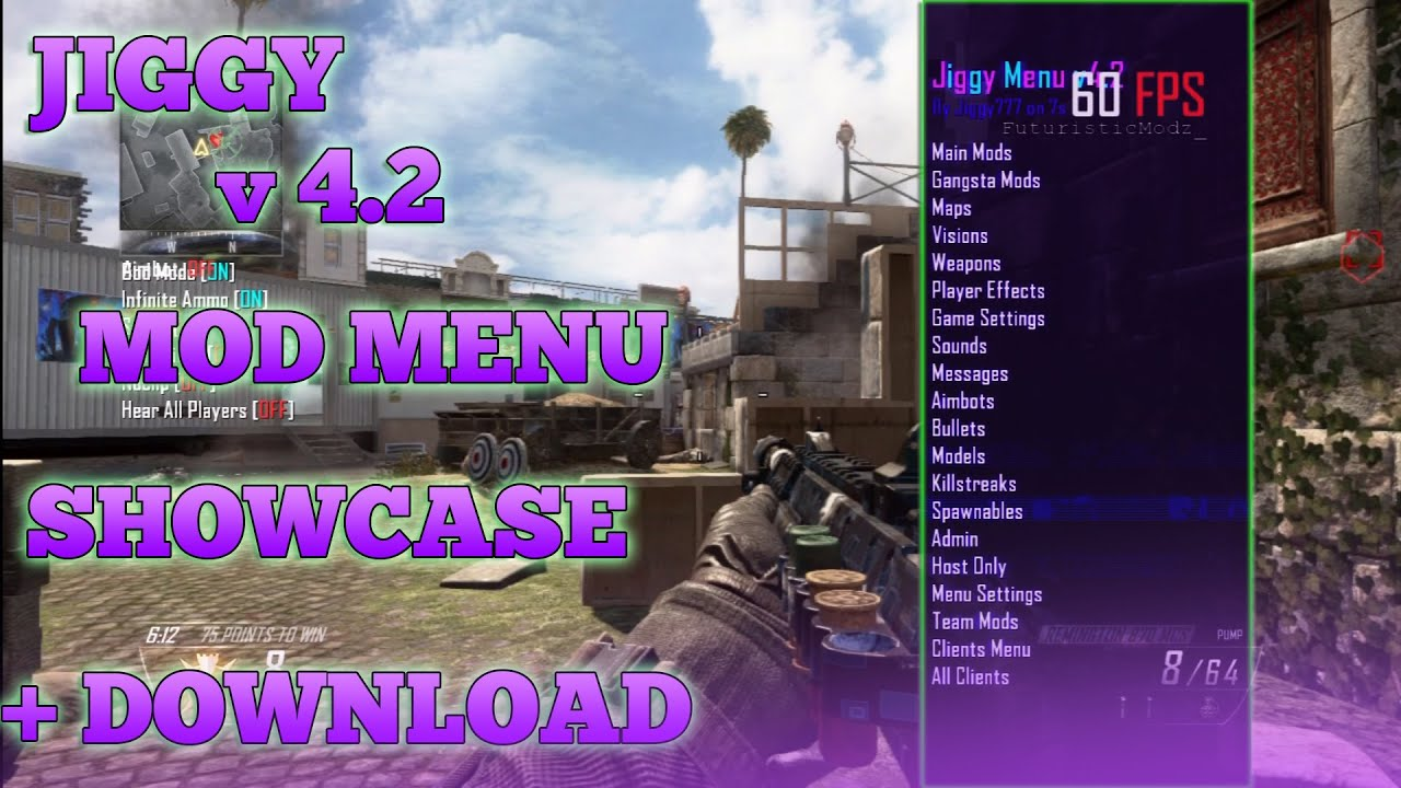 BLACK OPS 2 JIGGY MOD MENU 4 2 TU18/1 19 (XBOX 360/PS3/PC) + DOWNLOAD