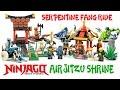 Ninjago Airjitzu Mountain Shrine & Serpentine Fang Rides Unofficial LEGO KnockOff Set
