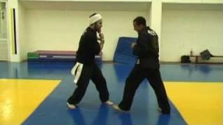 Abir Warrior Arts vs. frontal leg attacks  http://abir.org.il  052-679-0333