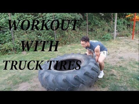 Workout with truck tires-Trening sa traktorskom gumom