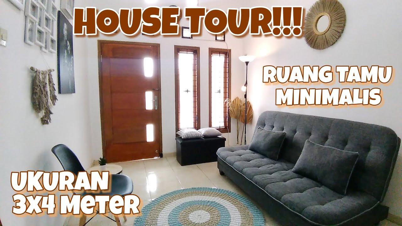 Room Tour Ruang Tamu Minimalis Ukuran 3x4 Meter Ruang Tamu Mungil House Tour Rumah Tipe 39 Youtube