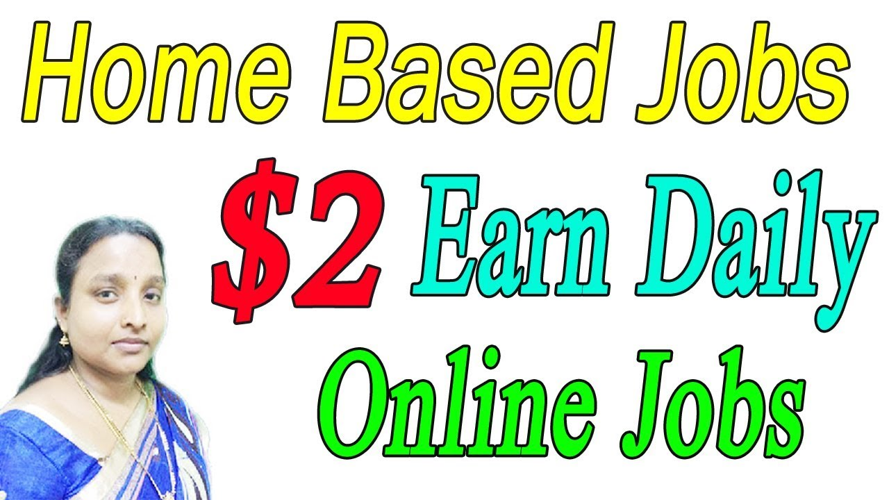 New Home Based Online Jobs | Earn Daily $2 Dollar in Tamil - YouTube