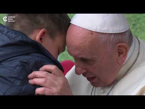 Little boy asks Pope Francis: 'Is my dad in heaven?'