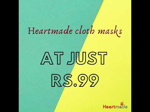 Handmade Cotton Cloth Masks at Rs.99 only from Heartmade ( New mask designs added)