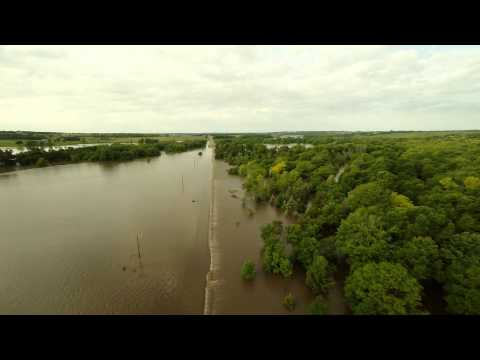 2014 Flood in Brandon,SD  From Above + LET BUFFER FIRST FOR BEST PLAYBACK  HD