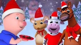 Santa dedo família Noel | Feliz Natal em Portugues | Natal para Crianças | Santa Claus Finger Family