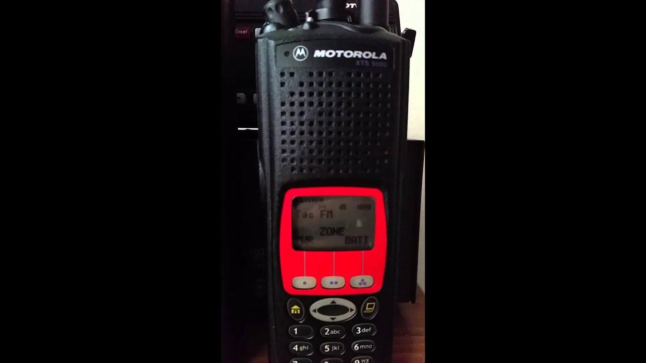 Motorola XTS5000 DTMF Paging