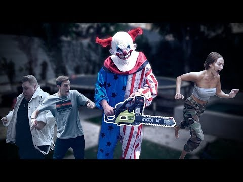 Thumbnail: KILLER CLOWN CHAINSAW PRANK ON TEAM 10