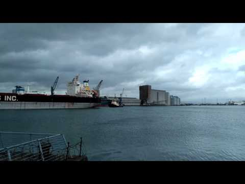 DIANA SHIPPING INC. Atalandi Leaving Belfast Harbour 29th March 2017