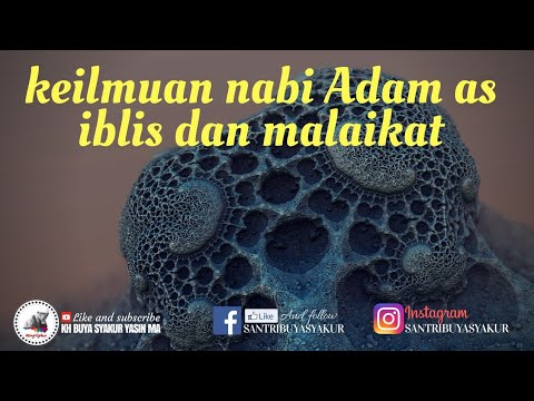 Keilmuan Nabi Adam As KH Buya Syakur Yasin ma