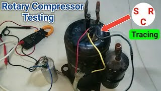 Testing rotary compressor full and trace (C,R,S) in Urdu Hindi