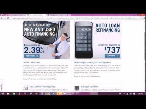 Capital One Loan Approval - CapitalOne Online Banking 2015