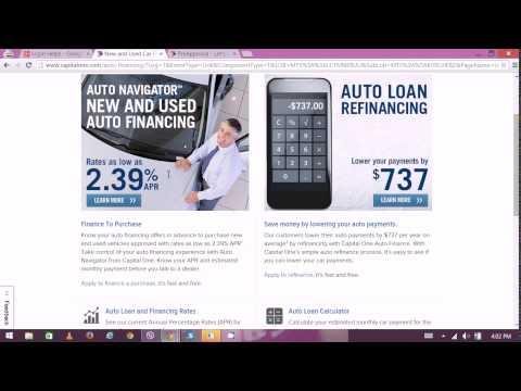 Capital One Loan Approval - CapitalOne Online Banking 2015