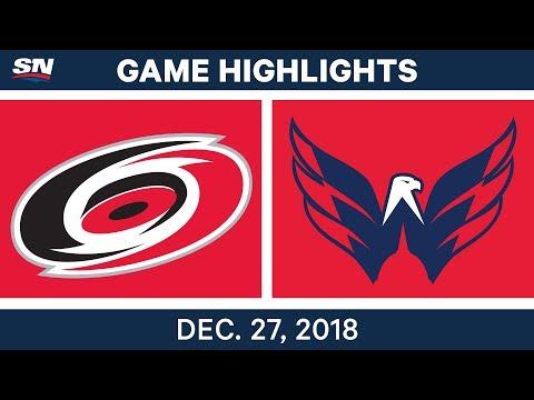 NHL Highlights | Hurricanes vs. Capitals - Dec 27, 2018