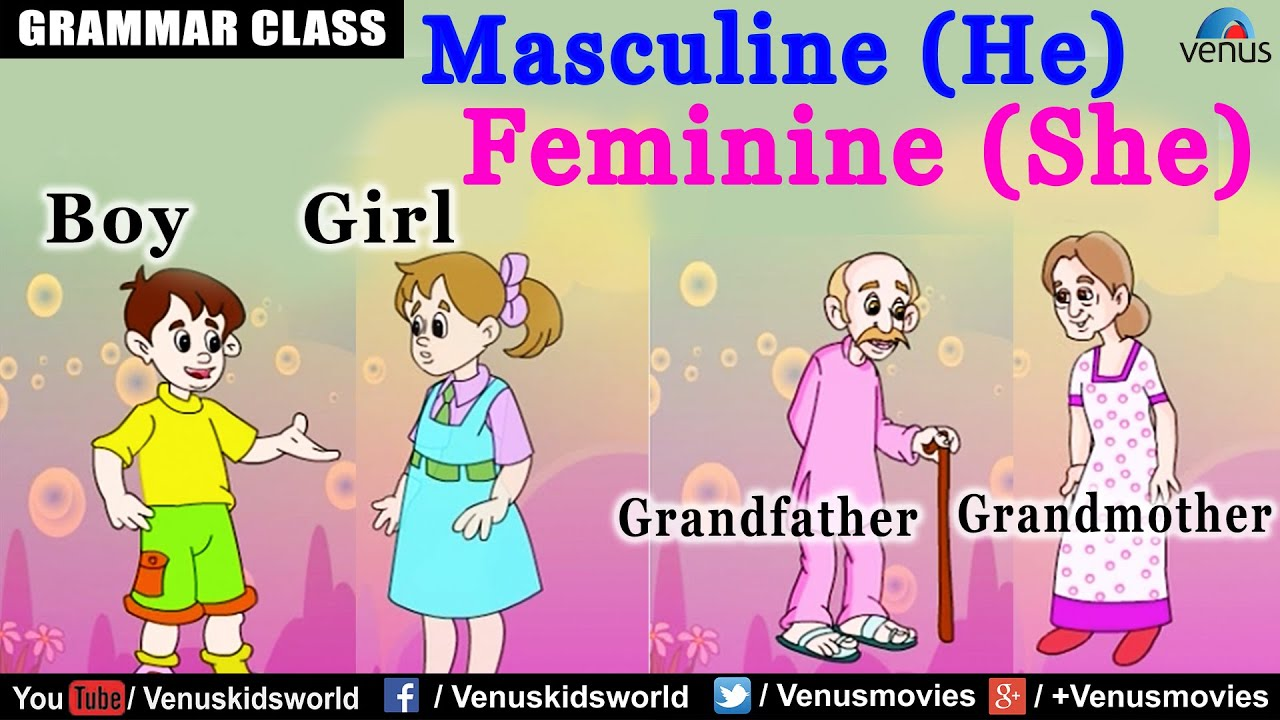 Nice Masculine (He) U0026 Feminine (She) Gender   YouTube