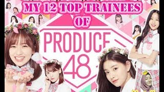 Gambar cover My 12 Top Trainees of Produce 48