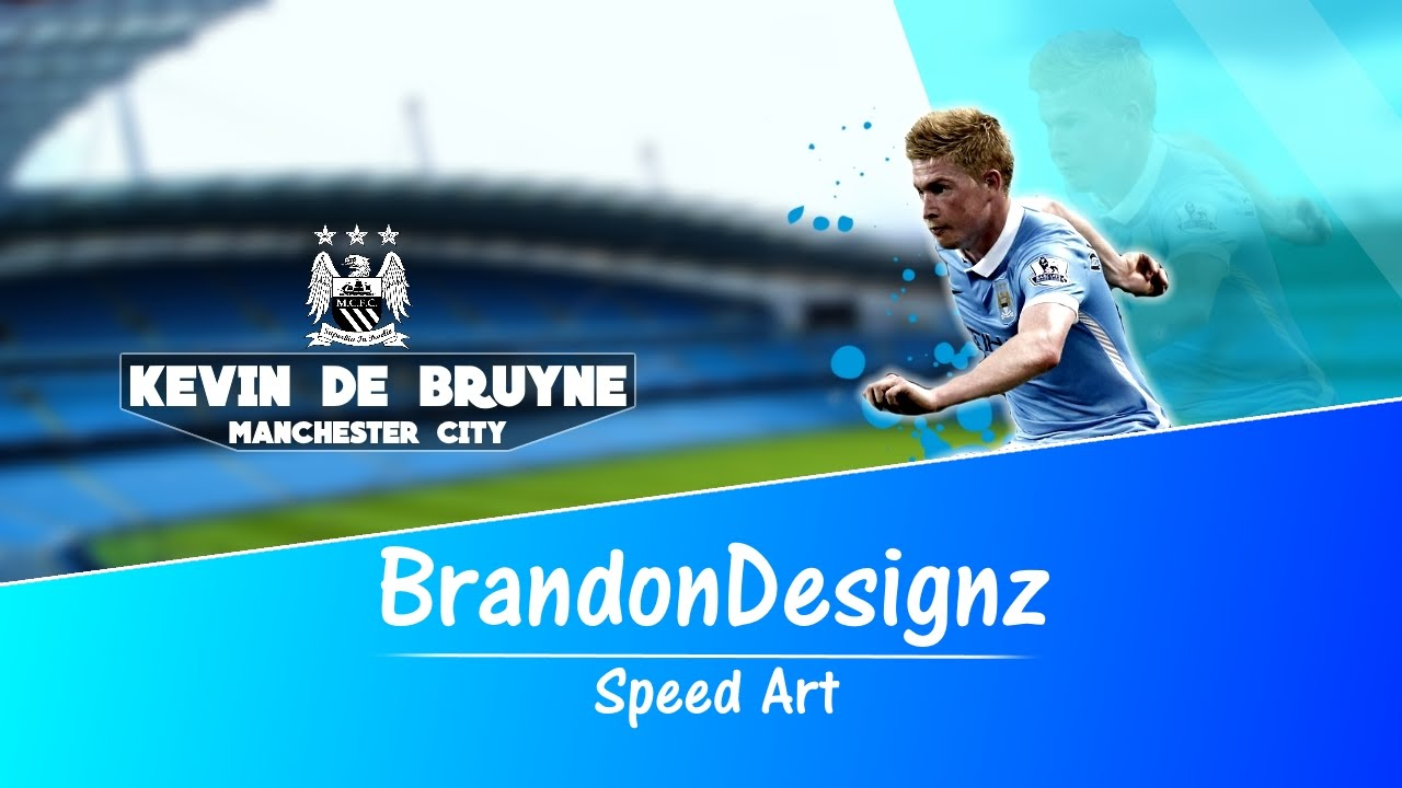 Kevin De Bruyne Wallpaper Speed Art Brandondesignz Youtube
